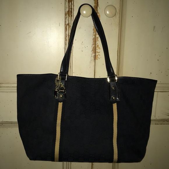 f3e3c433f Gucci Bags   Gg Black Jolicoeur Tote   Poshmark